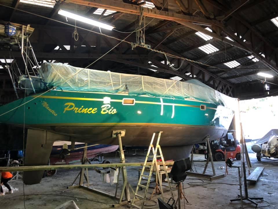 personnalisation d'une coque de bateau à Paimpol 22